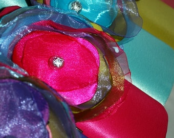 Set of 6 Bridesmaid's Clutch | Spring Wedding Color Collection | Personalized Clutch | Bouquet Clutch | Flower Clutch | Bouquet Alternative