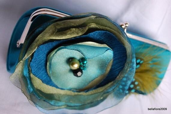 Bridesmaid Clutch | Bridal Clutch | Bridesmaid Gift Idea | Formal Clutch Handbag | Bridesmaid Clutch | Teal Clutch | Personalized Clutch