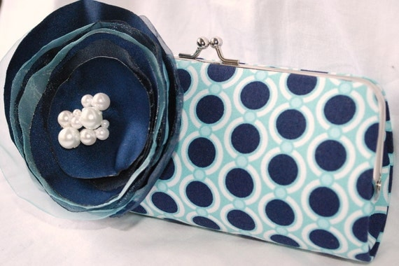 Modern Clutch- Bridal Accessories - Clutches - Bridal Clutch - Your Something Blue for the Modern Bride