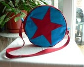 Ramona Flowers Bag in Blue/Red