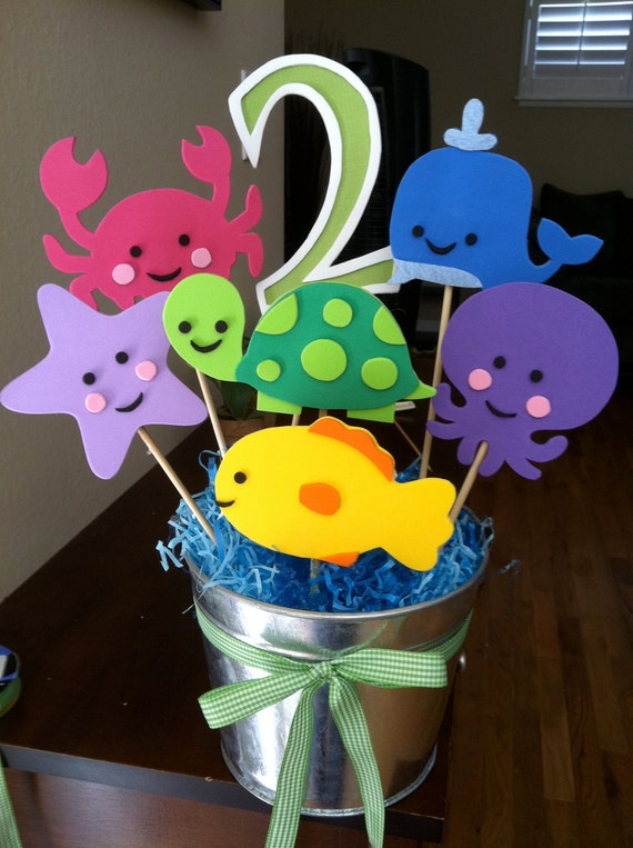 Items similar to under the sea theme centerpiece on etsy