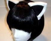 White/Black Kitty Ear Headband