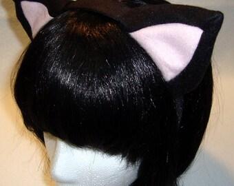 Black/Pink Kitty Ear Headband