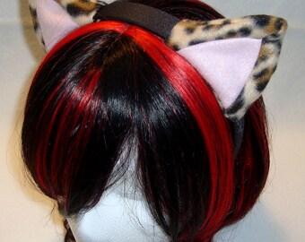 Leopard Print NYASAGI Kitty Ear Headband