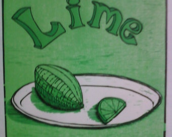 Lime reduction woodcut.