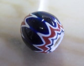 Vintage African Trade Bead Chevron 24mm (1)