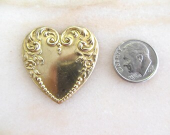 Brass Floral Heart Shaped Pendant