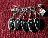 Coffin Stitch Markers (Set of 5)