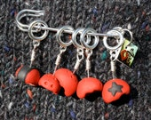 Roller Derby Team Helmets Knitting Stitch Markers (Set of 5)