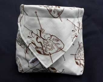 Knit Your Heart Out Drawstring Origami Knitting Project Bag