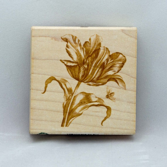 Tulip Rubber Stamp Wood Mounted