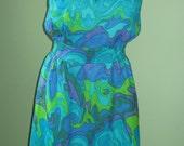 Fun 60's 70's Retro dress by Marek Costume or Study SALE