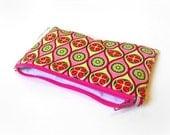 Reusable Snack Bag with Zipper -- Retro Watermelon