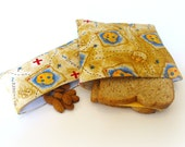 CLEARANCE -- Reusable Sandwich and Snack Bag Set --Treasure Map
