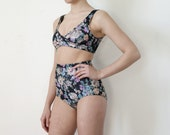 Two piece floral bather