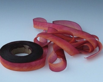 3 yd HANAH HAND DYED Silk bias-cut ribbon