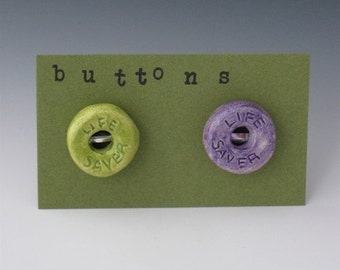 Ceramic Buttons, Lifesaver Ceramic Button, Candy Ceramic Buttons