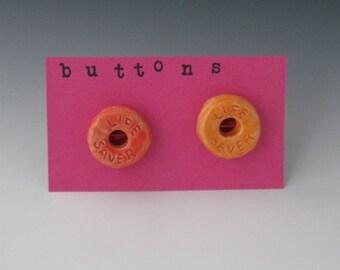 Ceramic Button, Ceramic Candy Button, Orange Ceramic Buttons