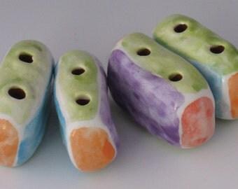 Ceramic Beads, Square Ceramic Beads, Ceramic beads, Bead, Multicolored Beads