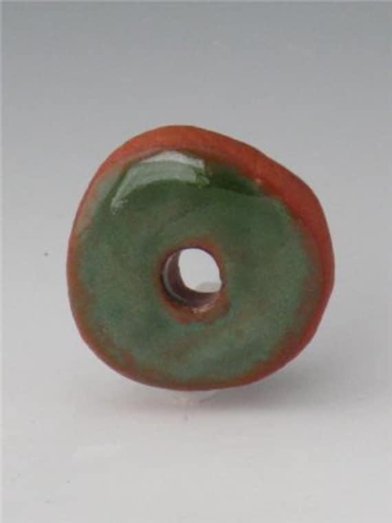 Terracotta Beads, Terracotta Bead, Ceramic Beads, Beads Ceramic, Green Ceramic Beads
