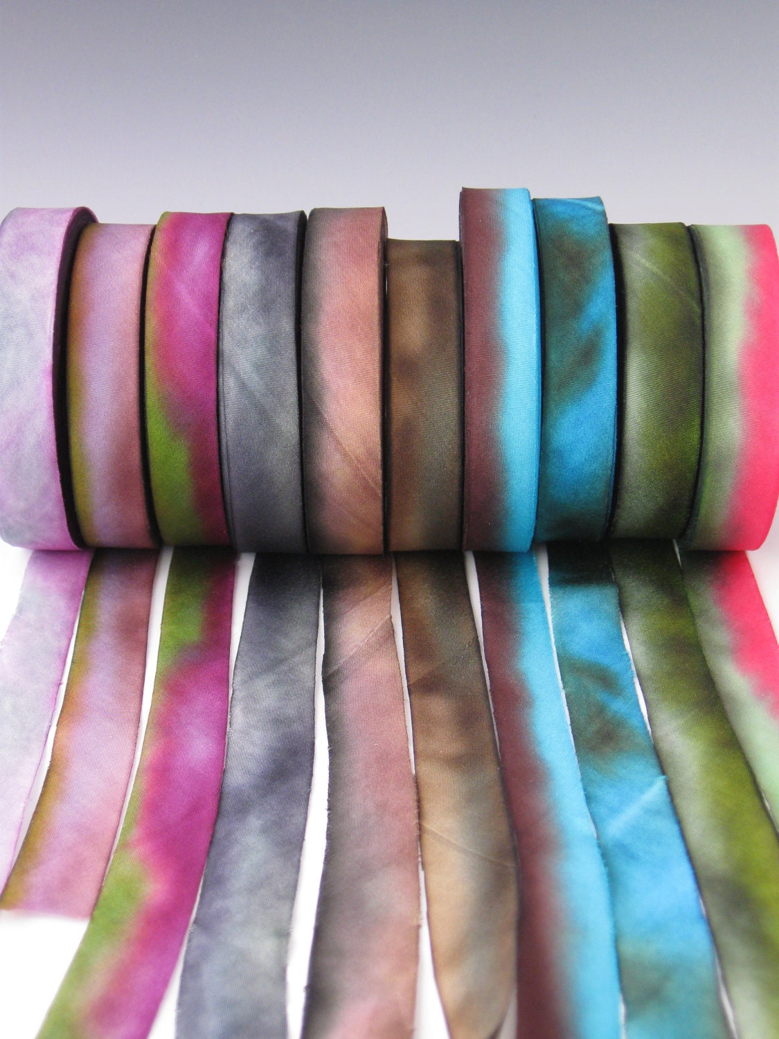 A Hanah Hand Dyed Silk Ribbon CollectionHand Dyed Silk