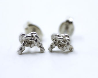 Forget Me Knot - Silver post earrings