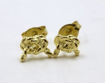 Forget Me Knot - Gold Vermeil Post Earrings
