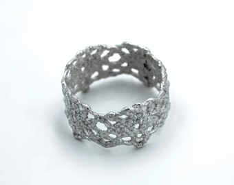 Vintage Lace Ring - 14K White Gold