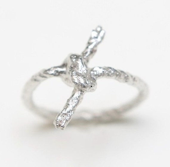 Silver Forget Me Knot Ring