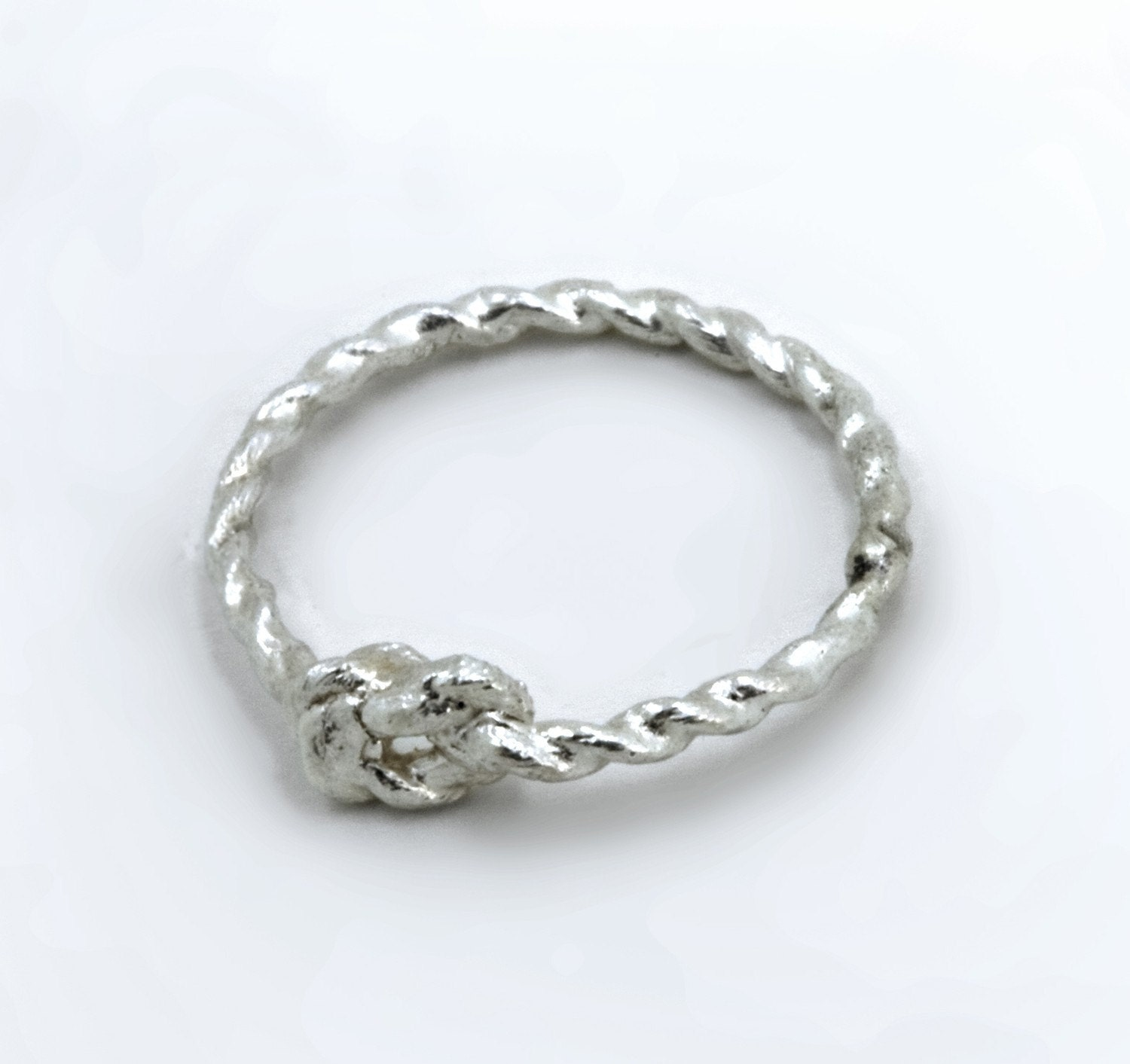 promise knot ring sterling silver