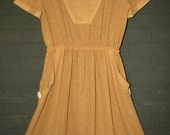 Vintage Butterscotch Summer Dress Medium