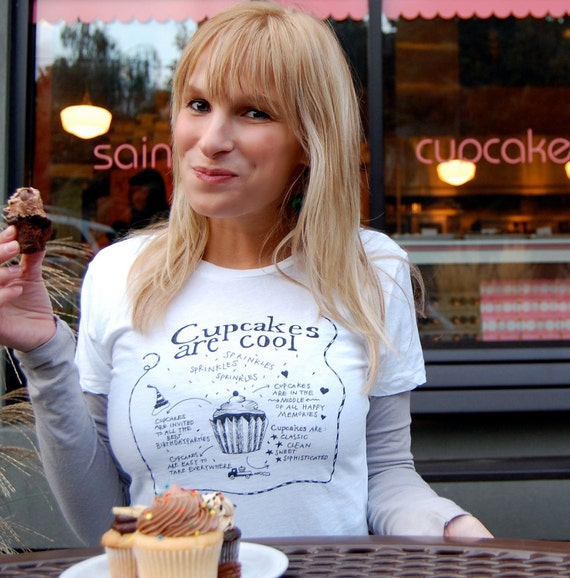 Cupcakes Are Cool T-shirt/Tee Womens S.M.L.XL