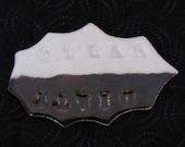 Ceramic 'Dirty/Clean' dishwasher plaque