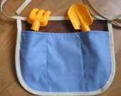 Child's Gardening Apron - INCLUDES TOOLS  (blue 'n brown) ...ReADY to SHiP