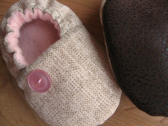 birdy boots 'Cotton Candy' ...upcycled ...baby or toddler shoe ... Newborn to 24 months...