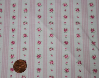 Yuwa Pink Ticking Cotton Fabric CR811019