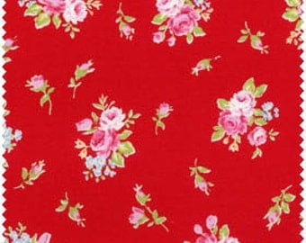 Flower Sugar Fabric by Lecien  Roses on Red  30363-30