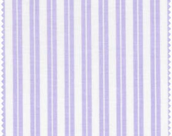 Purple Stripe Print Fabric  Baby Basics Collection