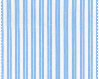 Blue Stripe Print Fabric  Baby Basics Collection