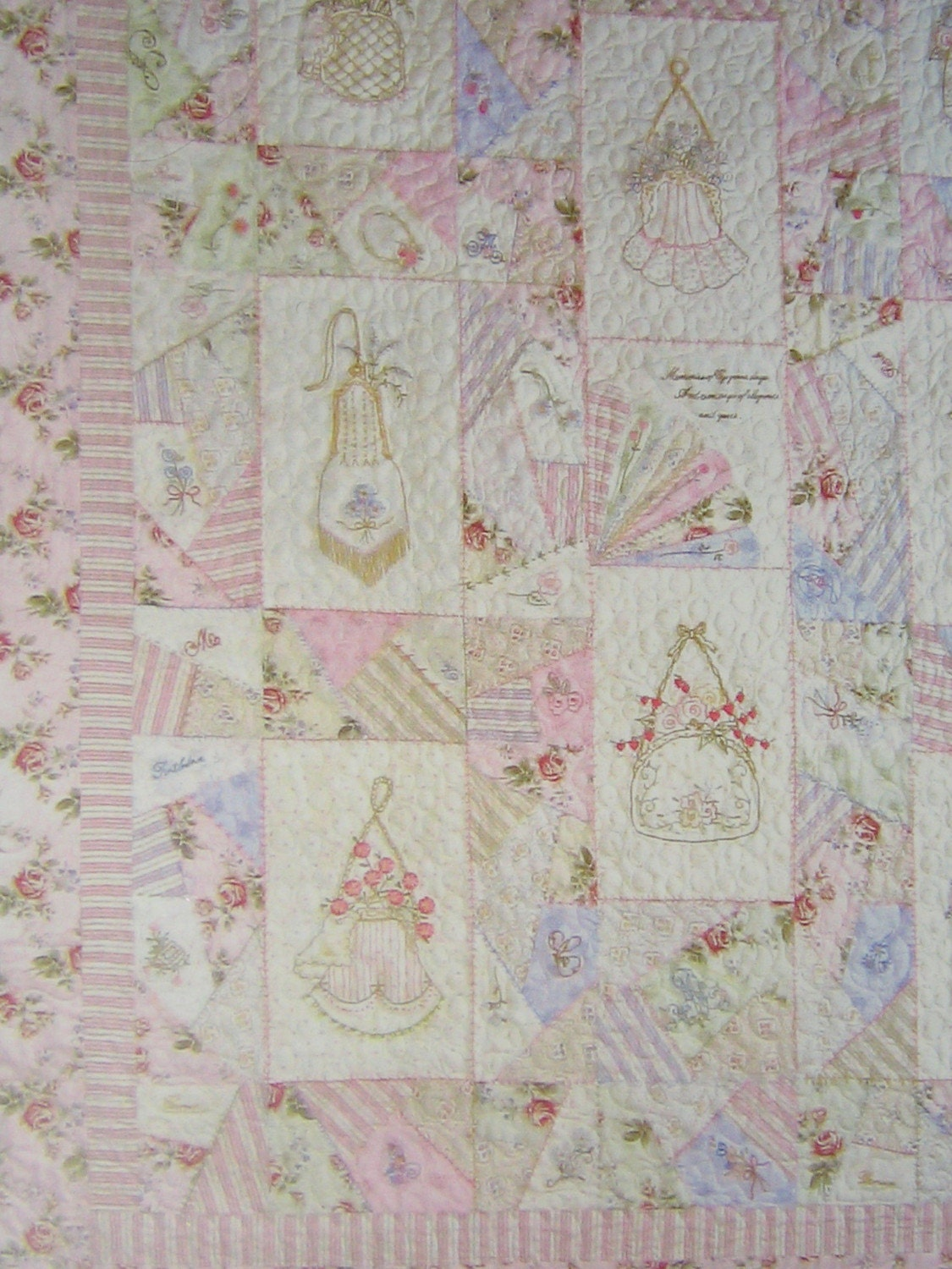 Crabapple hill quilt pattern hand embroidery heirloom