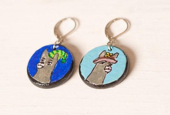 Carl the Llama Earrings