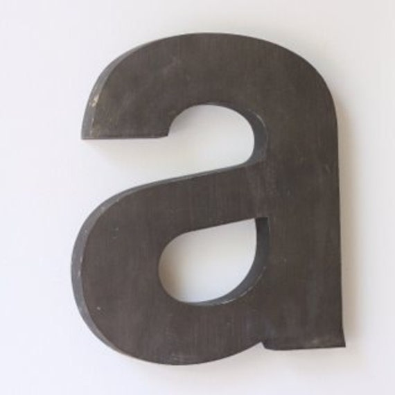 "Metal Letter ""a"" Industrial Salvage Home Decor Wall Art, Initial"