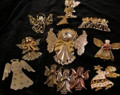 10 Angel pins for Christmastime
