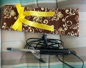 Great Gift Tina Givens Print Brown and Gold Curling Iron/Flat Iron Case
