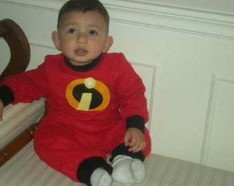 Jack Jack the incredible baby Halloween/birthday costume Please let me know the fabric you want