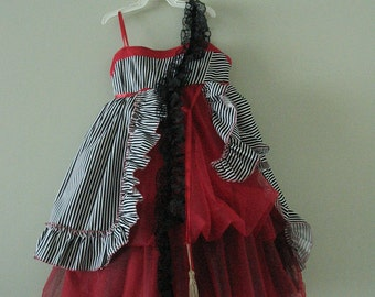 Fancy kids dress inspired by the Alice in wonderland   birthday dress custom or any occasion