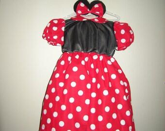 Girla dress inspired by the Walt Disney Minnie Mouse dress