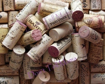 WINE CORKS 100 Used All Natural Wine Corks for Crafting Projects - Crafting Supplies