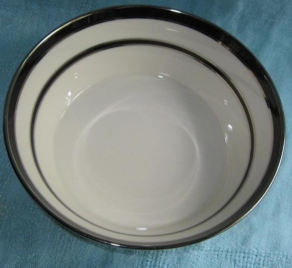 Lenox Venture Vegetable Bowl Platinum & Black Vintage