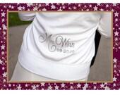 Custom Bridal Rhinestone Zip-up Hoodie